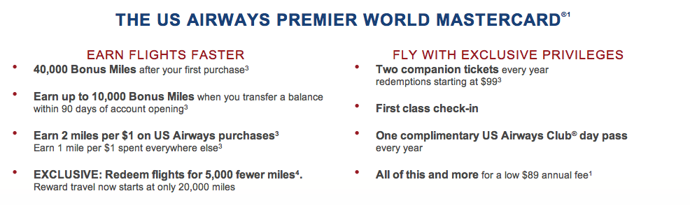 US Airways New Offer