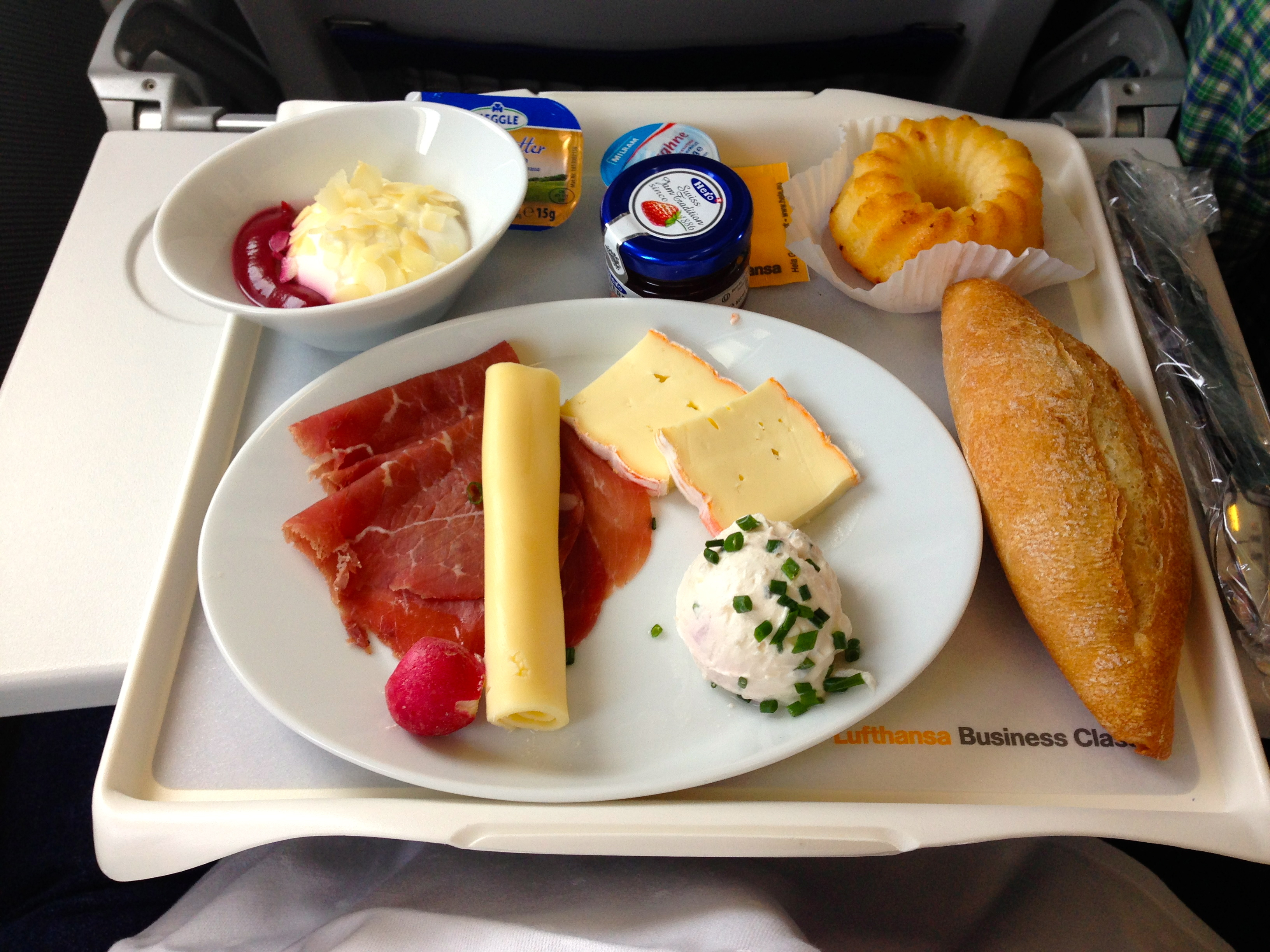 Flying lufthansa intra europe taking service and the spork to a