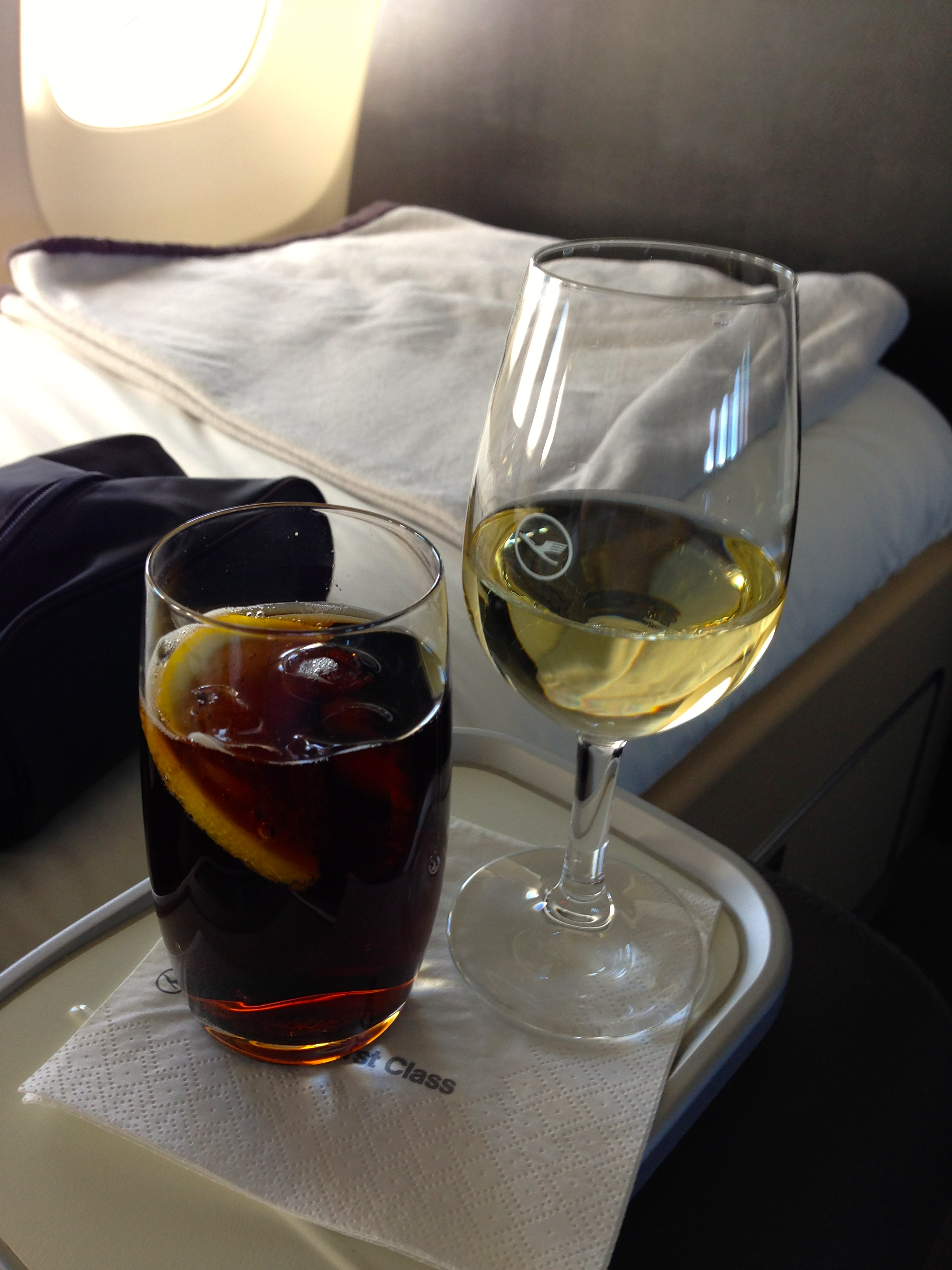 Lufthansa First Class Drinks