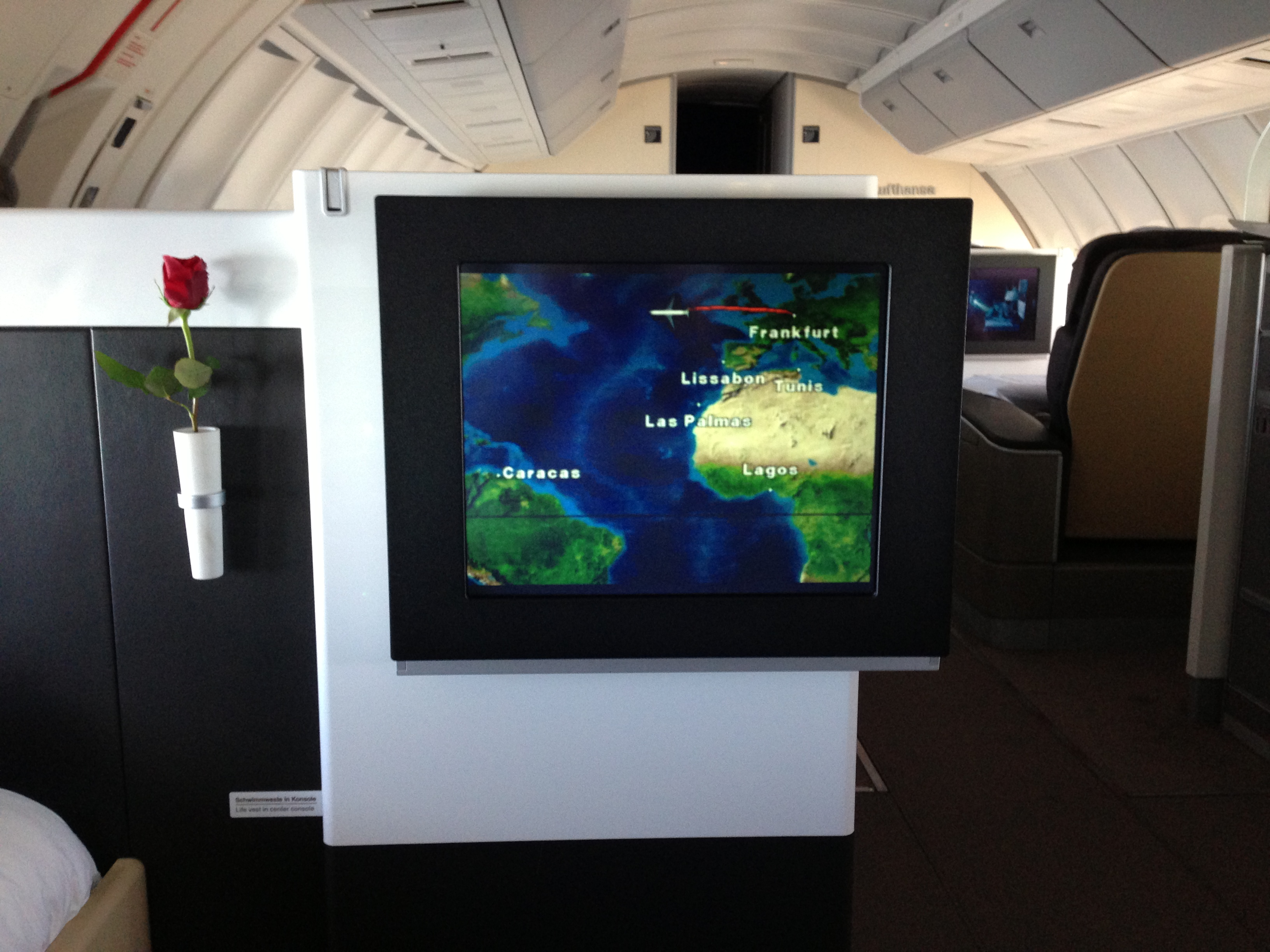 Lufthansa First Class In-Flight Entertainment IFE