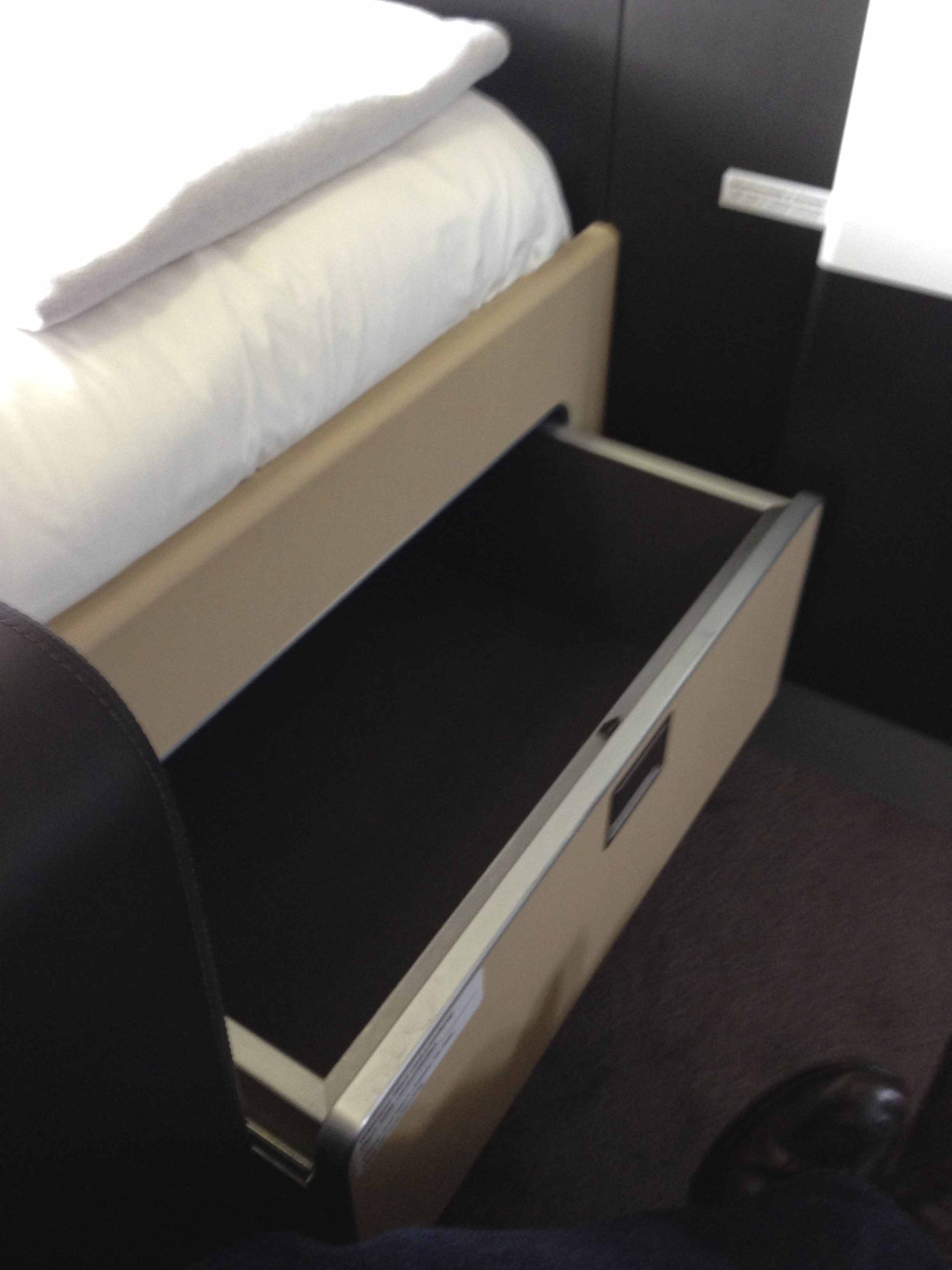 Lufthansa First Class Storage Compartment