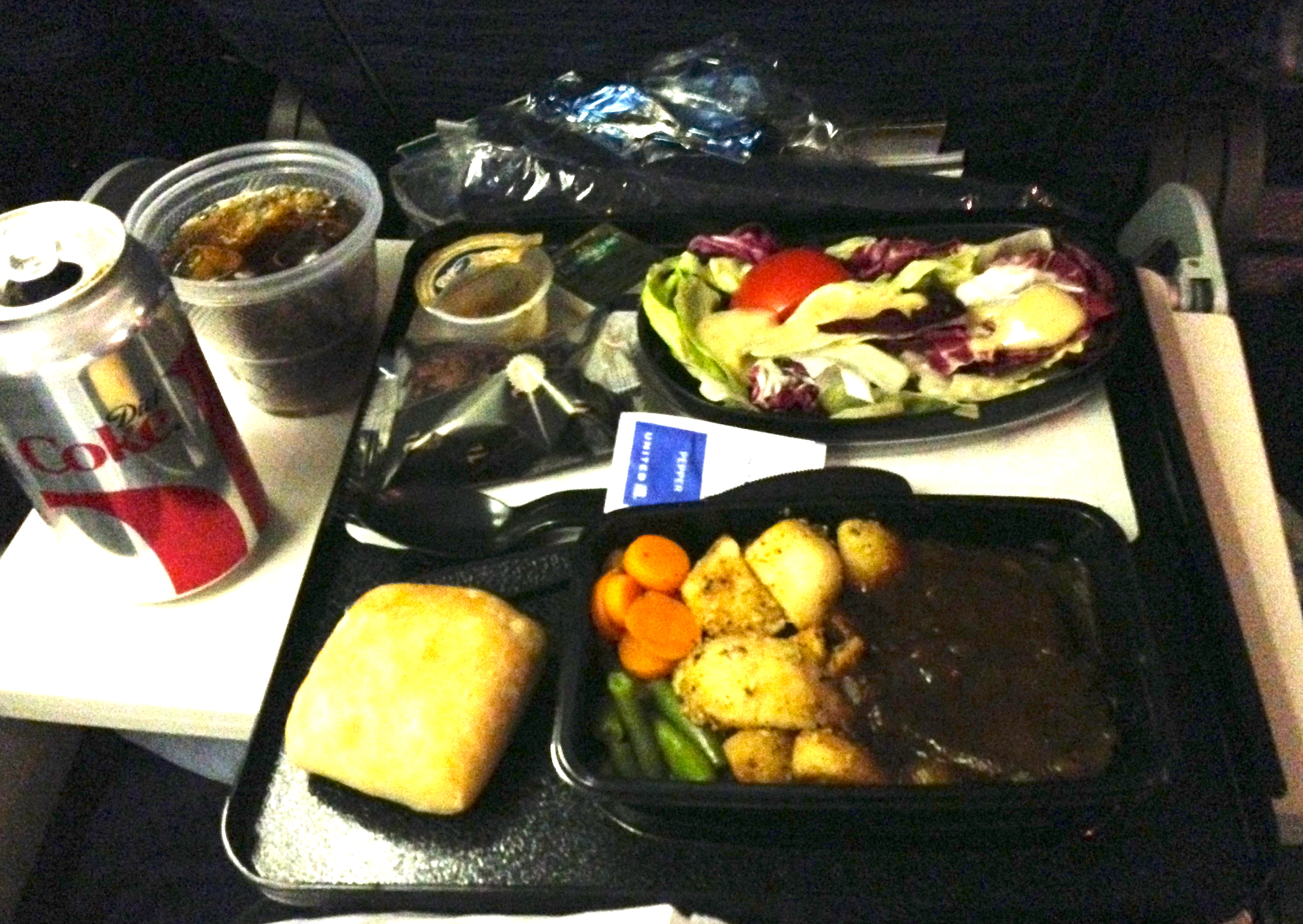 United Economy Class Meal