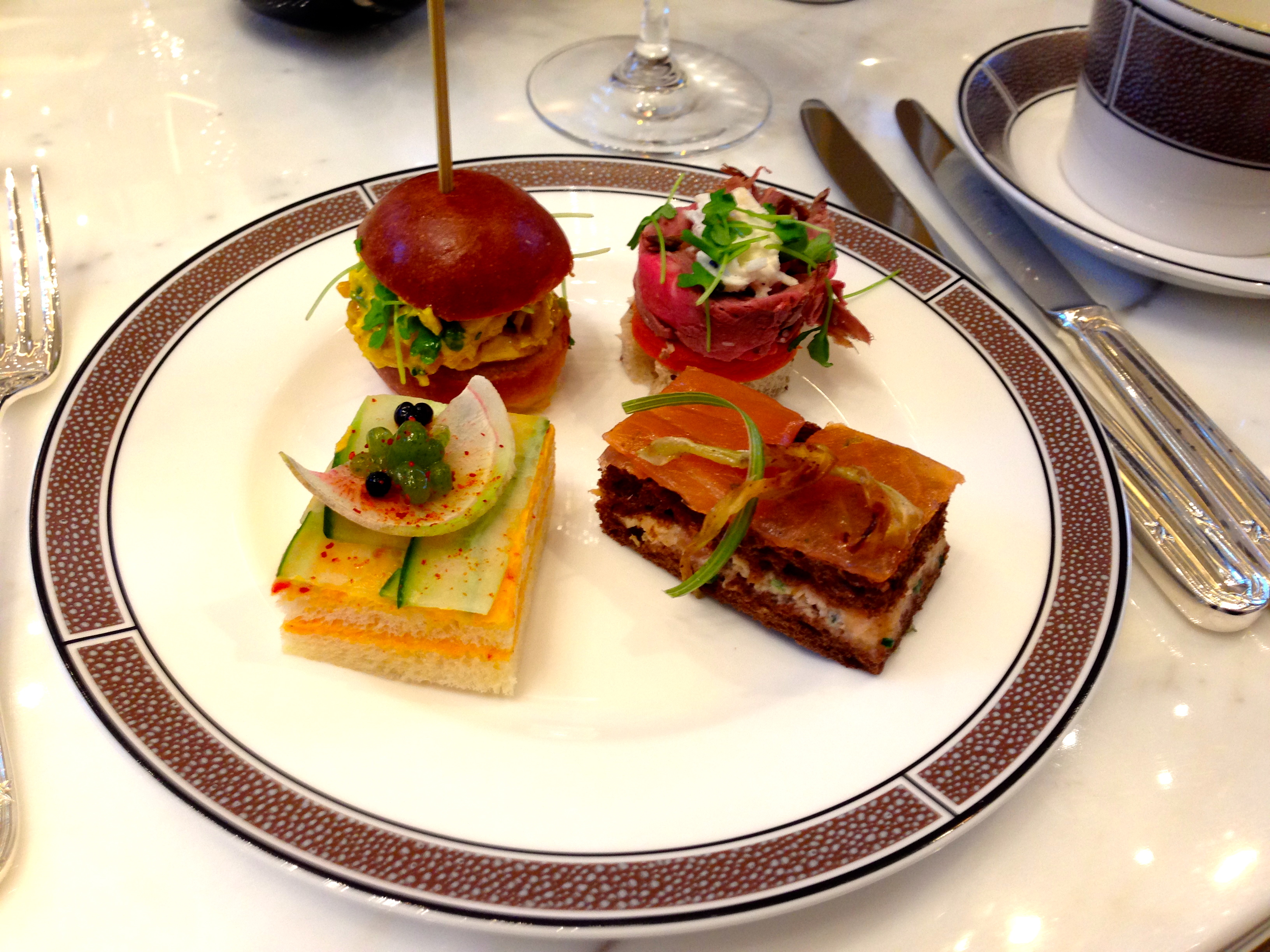 Afternoon Tea Sandwiches Langham Hotel Chicago