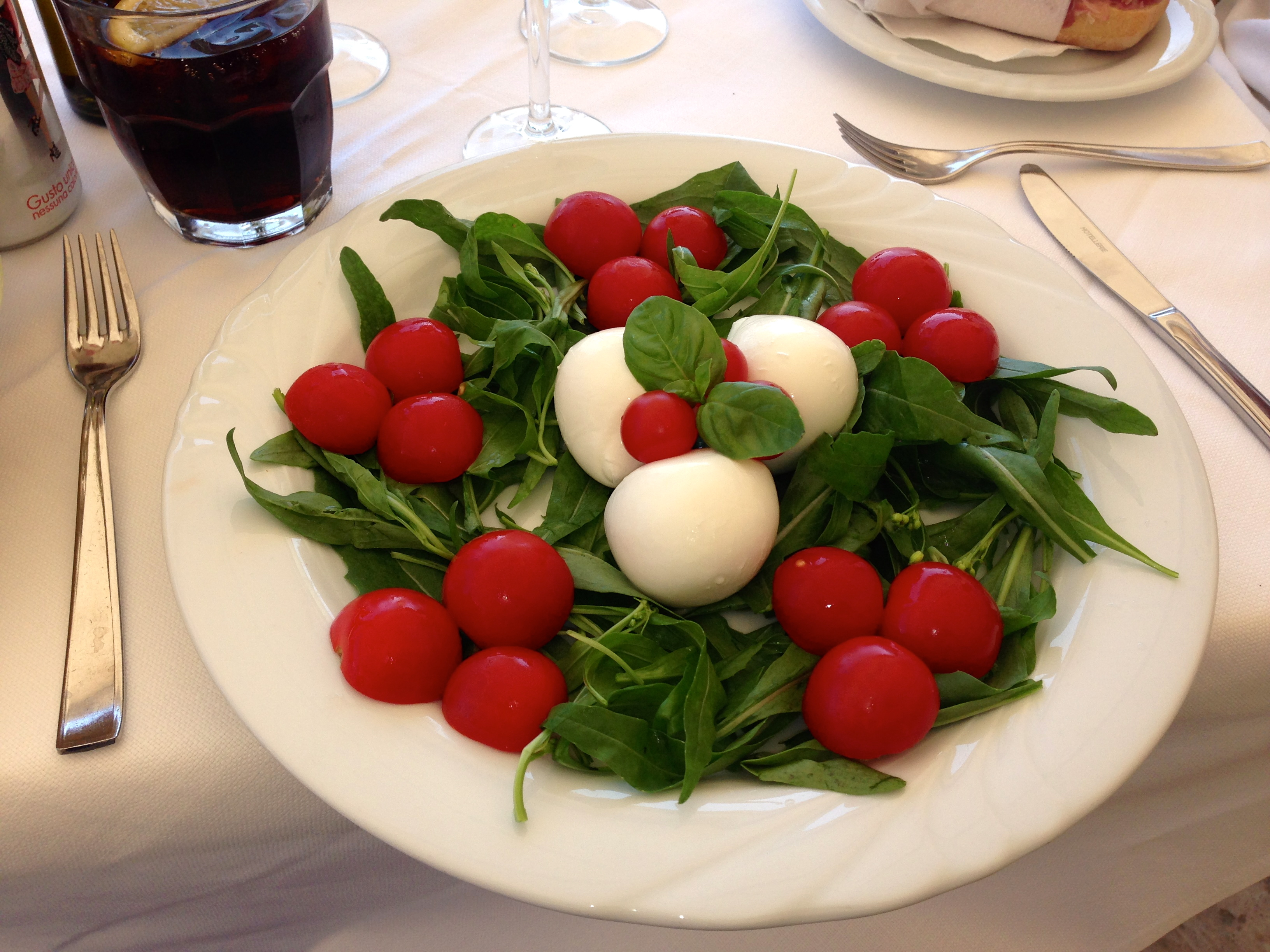 Hotel Marincanto Beach Club Tomato and Mozzarella Salad