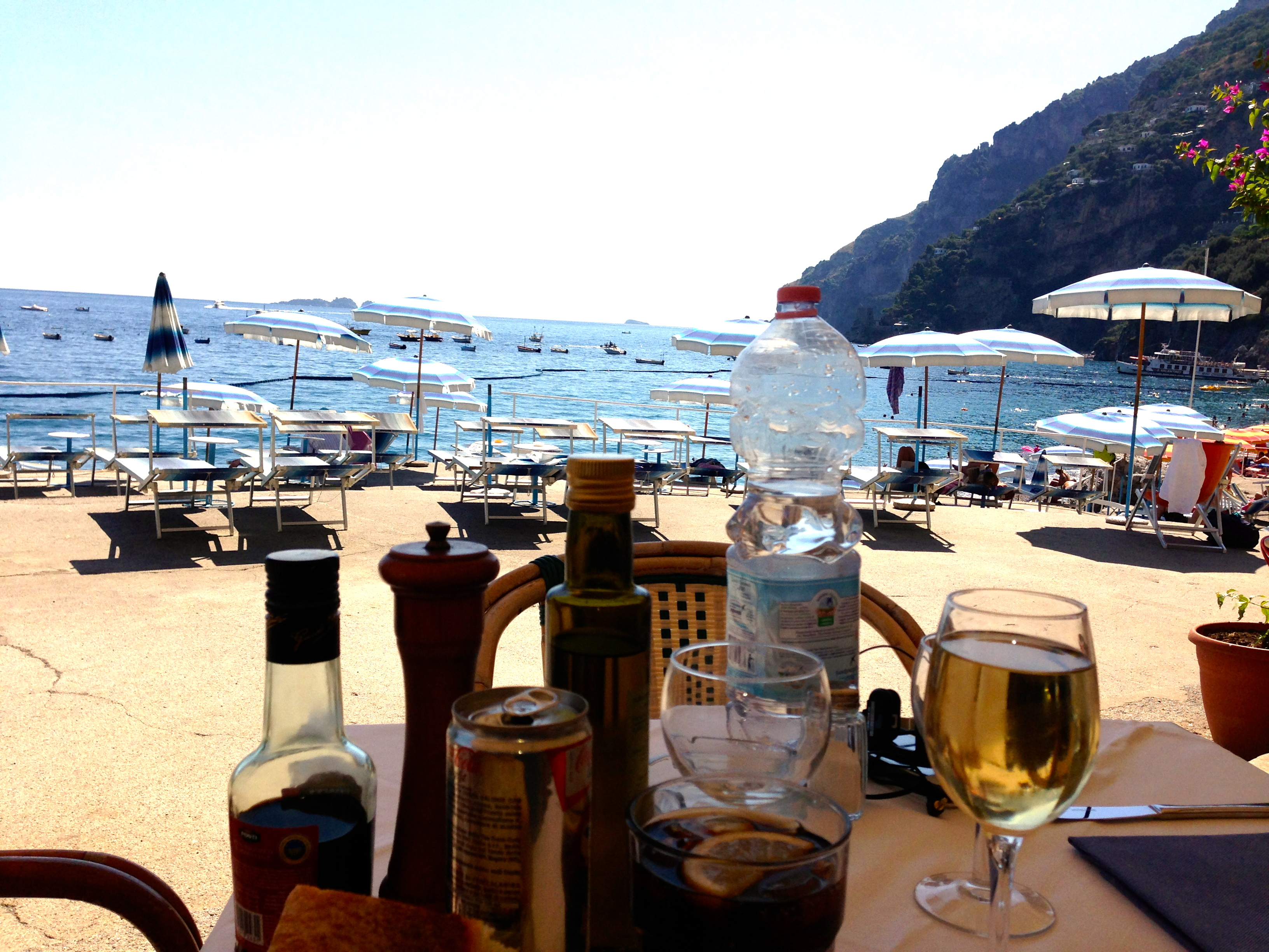 Hotel Marincanto Positano Beach Club Lunch