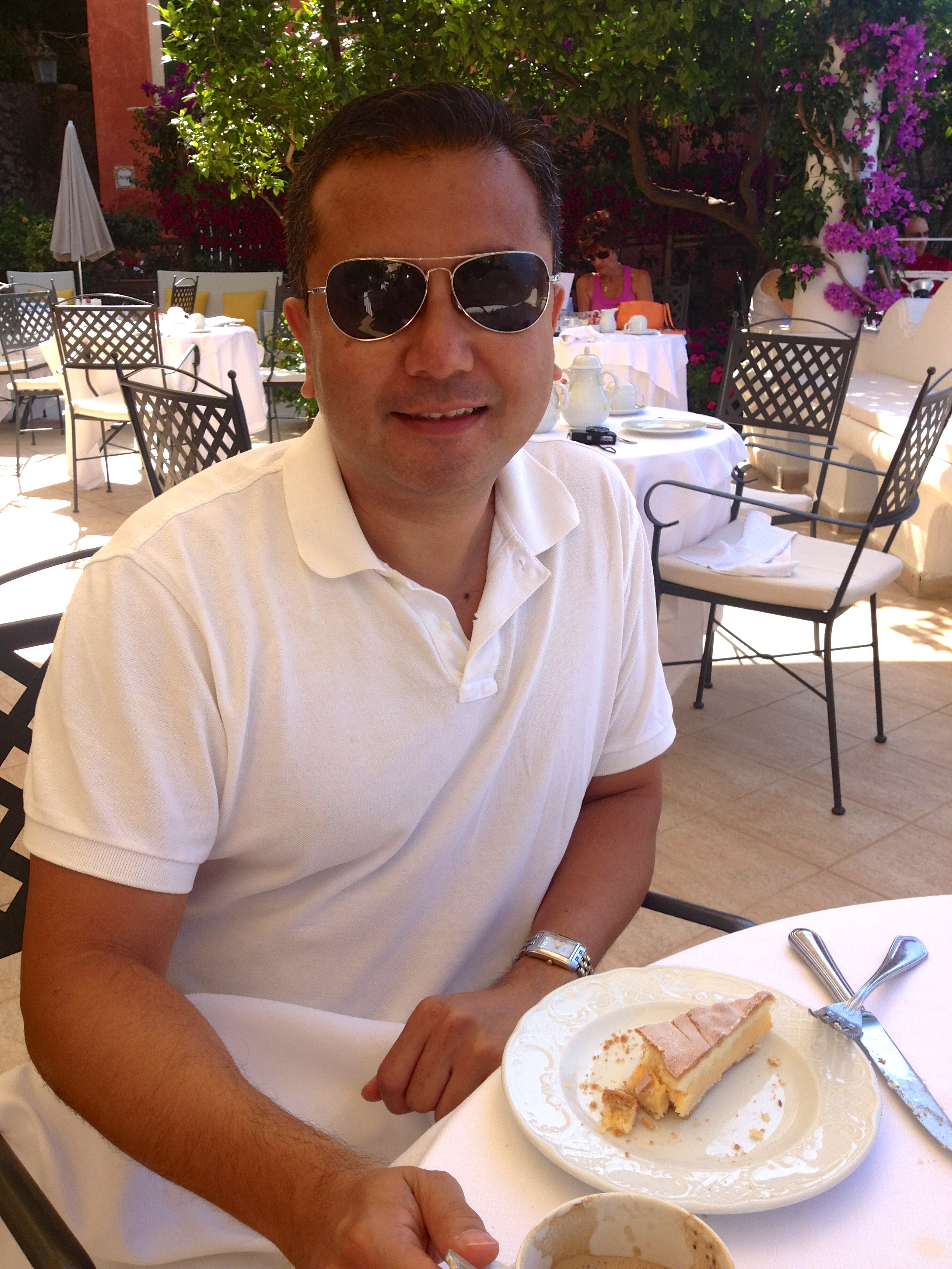 Hotel Marincanto Positano Breakfast in Sunglasses