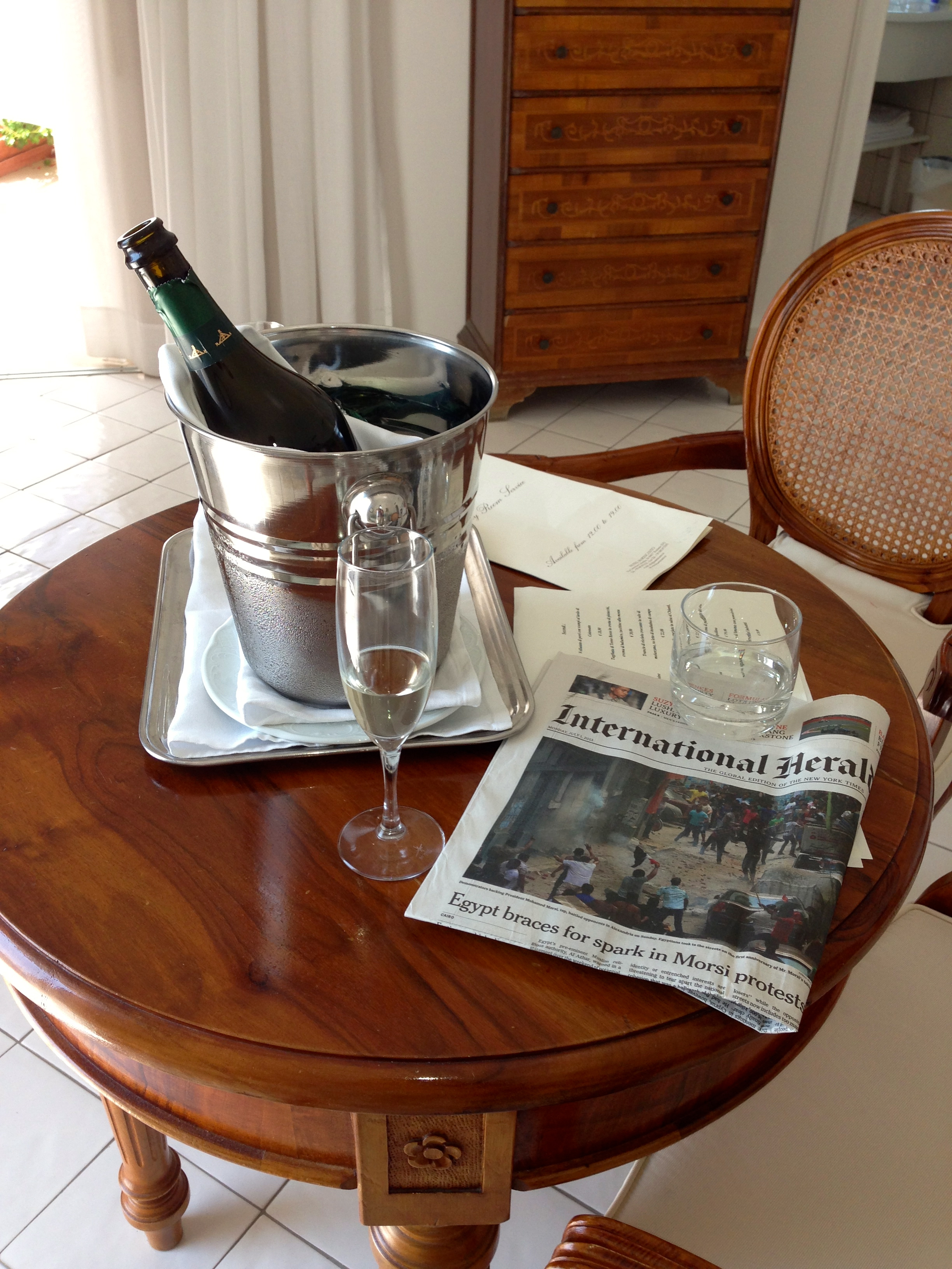 Hotel Marincanto Positano Welcome Prosecco After