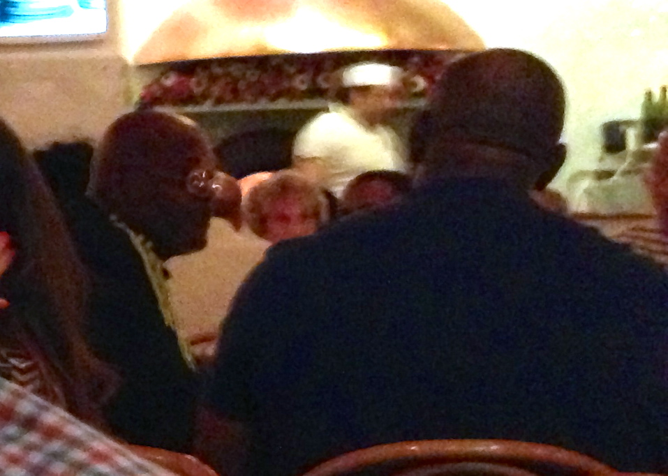 Samuel L. Jackson and Magic Johnson at Chez Black Positano