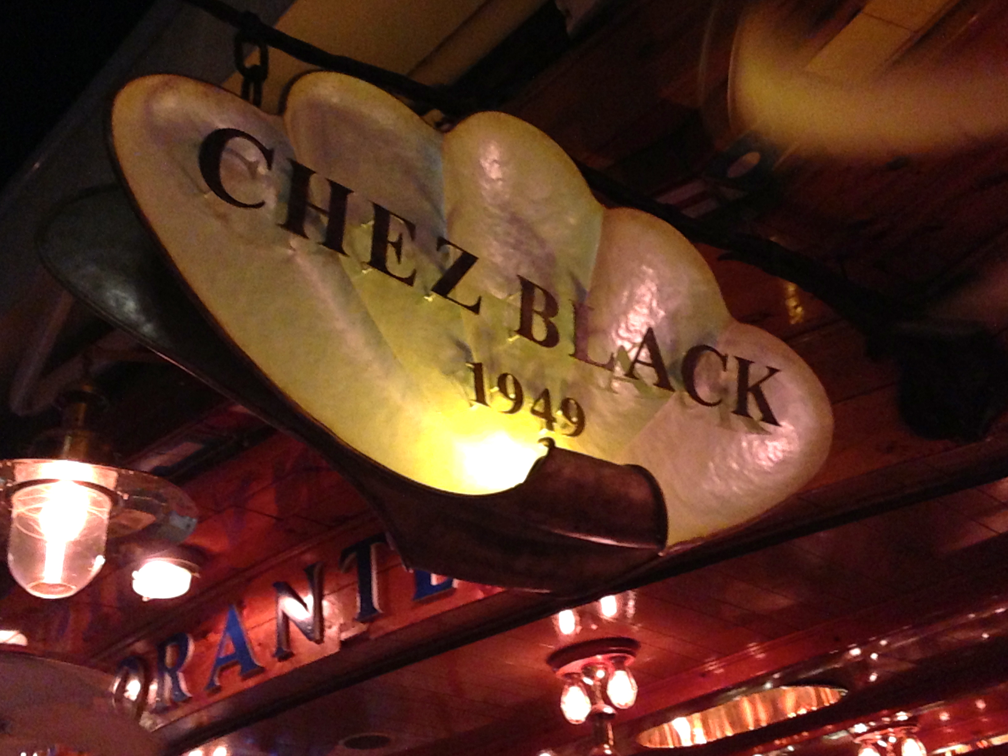 Chez Black Positano Sign