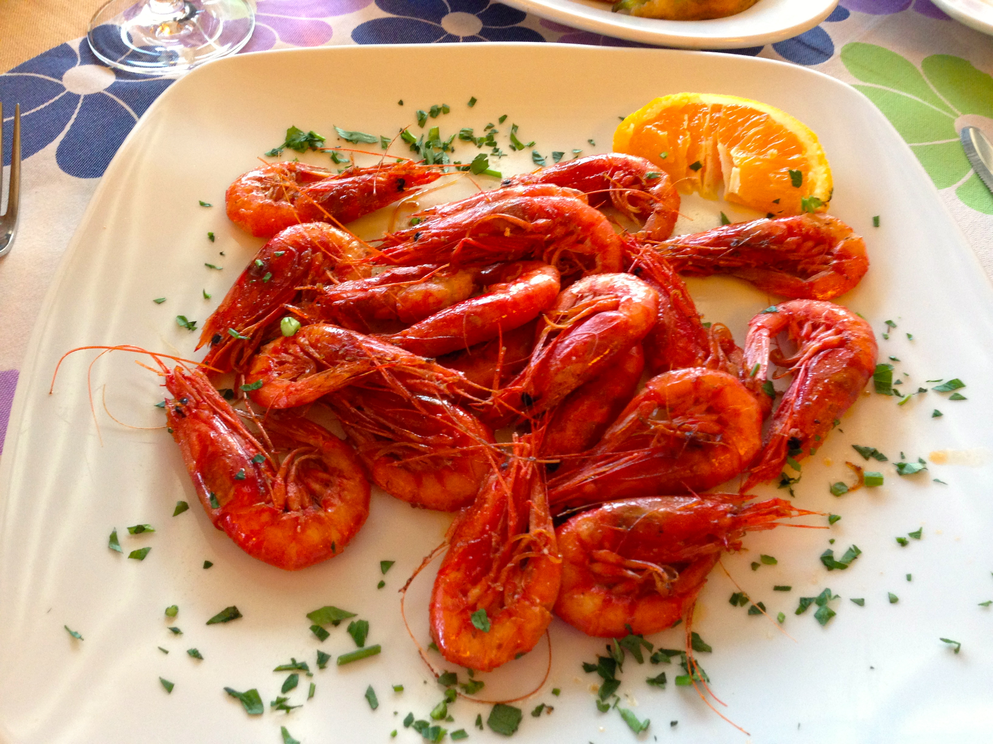 Salt and Pepper Shrimp at Il Ritrovo Restaurant Positano