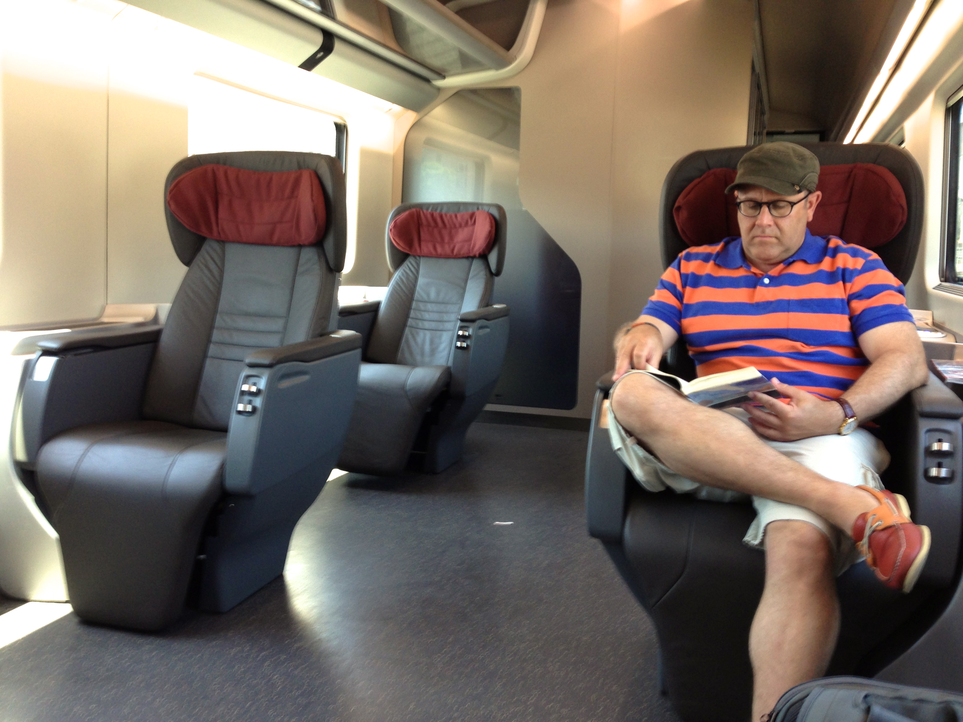 Trenitalia Frecciarossa Executive Class Seat Legroom