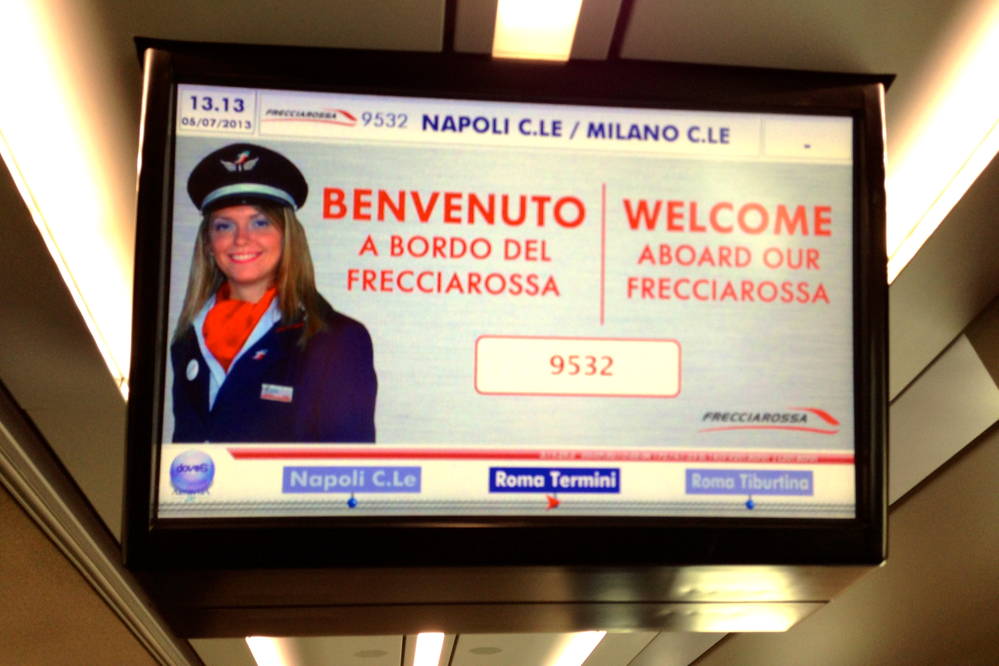 Trenitalia Frecciarossa Welcome Sign