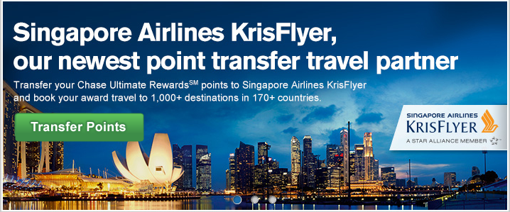Singapore Airlines Ultimate Rewards Points Transfer Partner