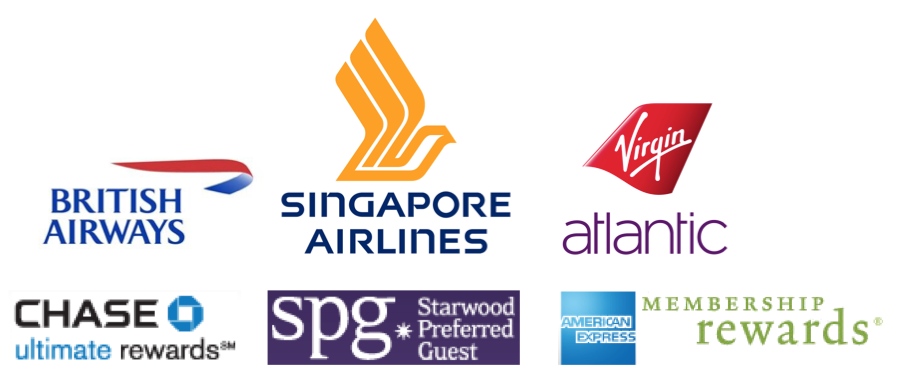 Transferring Ultimate Rewards Membership Rewards Starwood Preferred Guest Starpoints to British Airways Singapore Airlines Virgin Atlantic