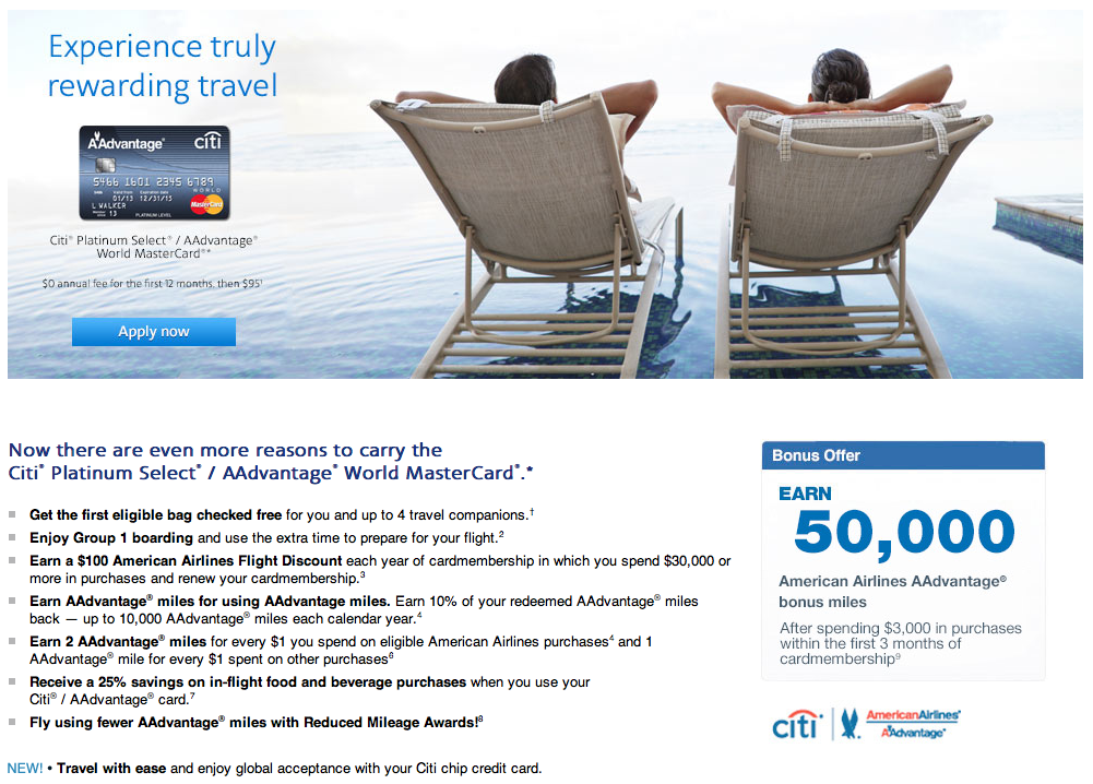 Citi AAdvantage 50000 Mile Offer