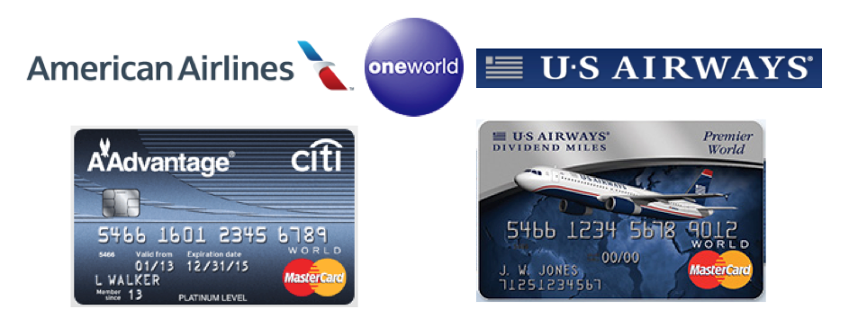 Citi AAdvantage MasterCard 50000 Mile Deal US Airways MasterCard 40000 Mile Deal