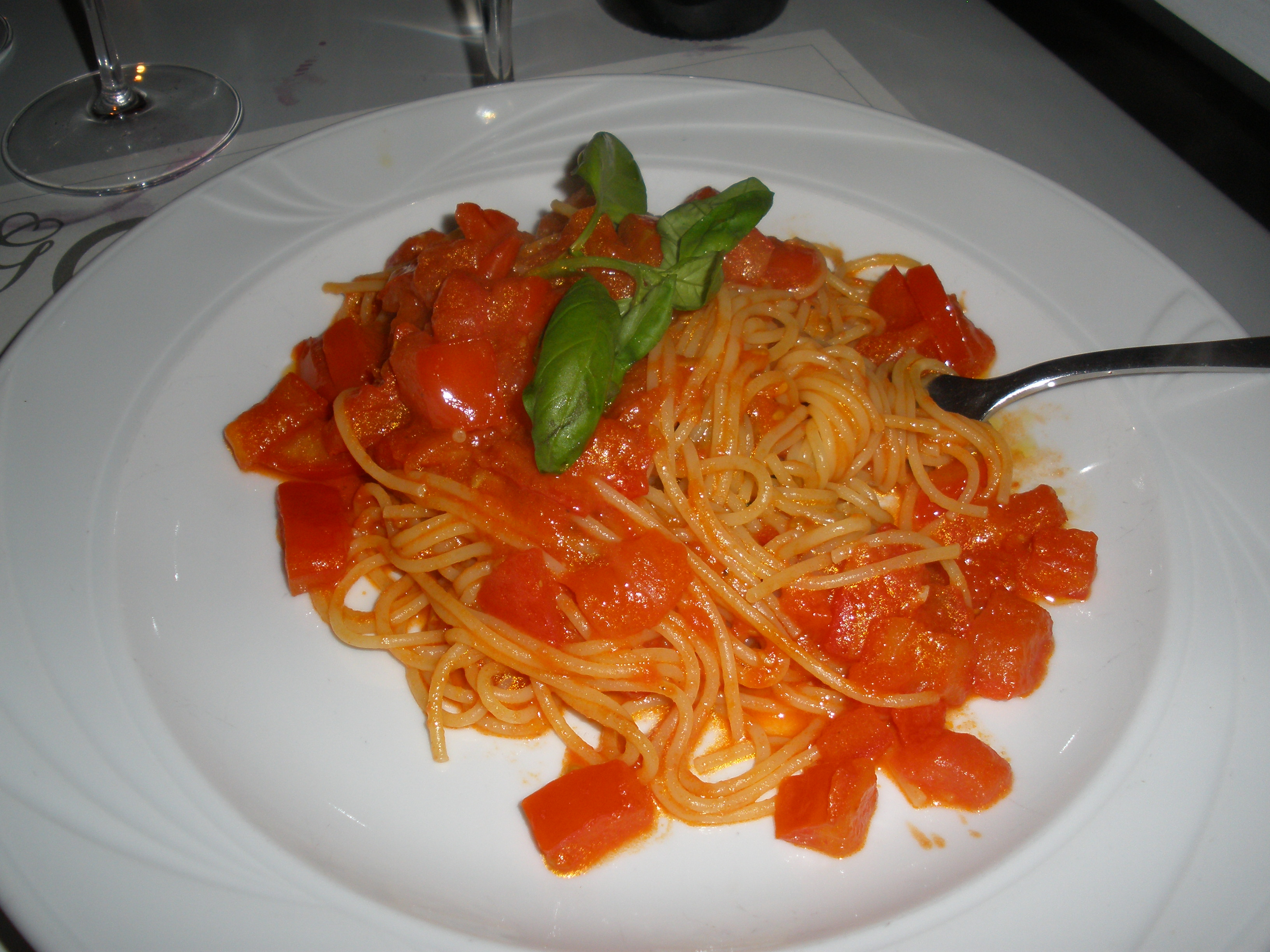 Golden View Open Bar Restaurant Florence Firenze Spaghetti in Pomodoro Sauce