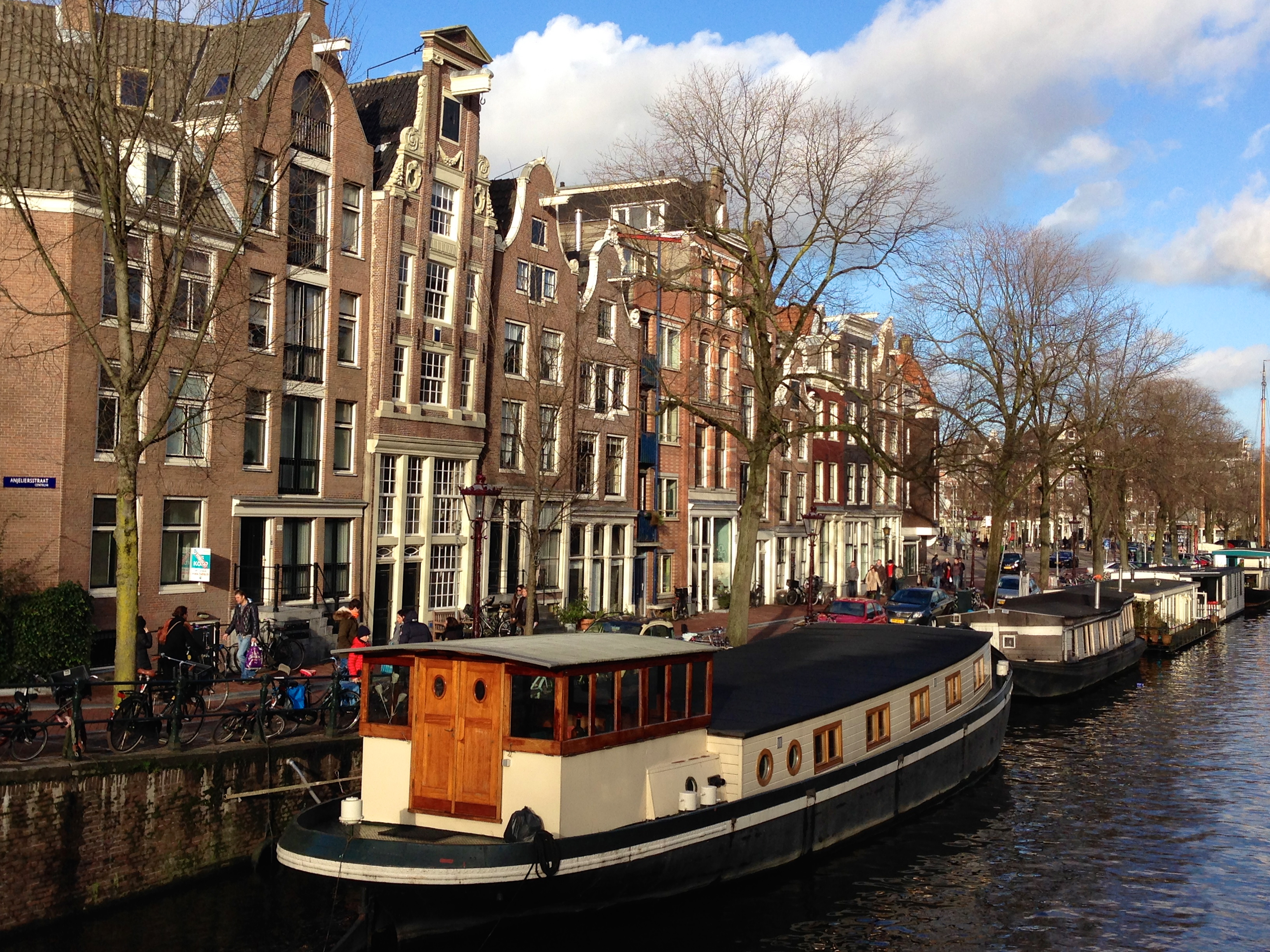 Amsterdam Canal and Houseboats December 2013