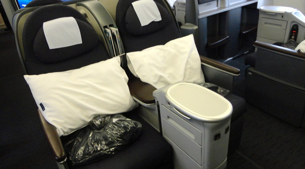 United BusinessFirst Business Class Seat