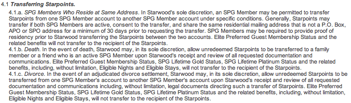 Transferring Starpoints Terms & Conditions