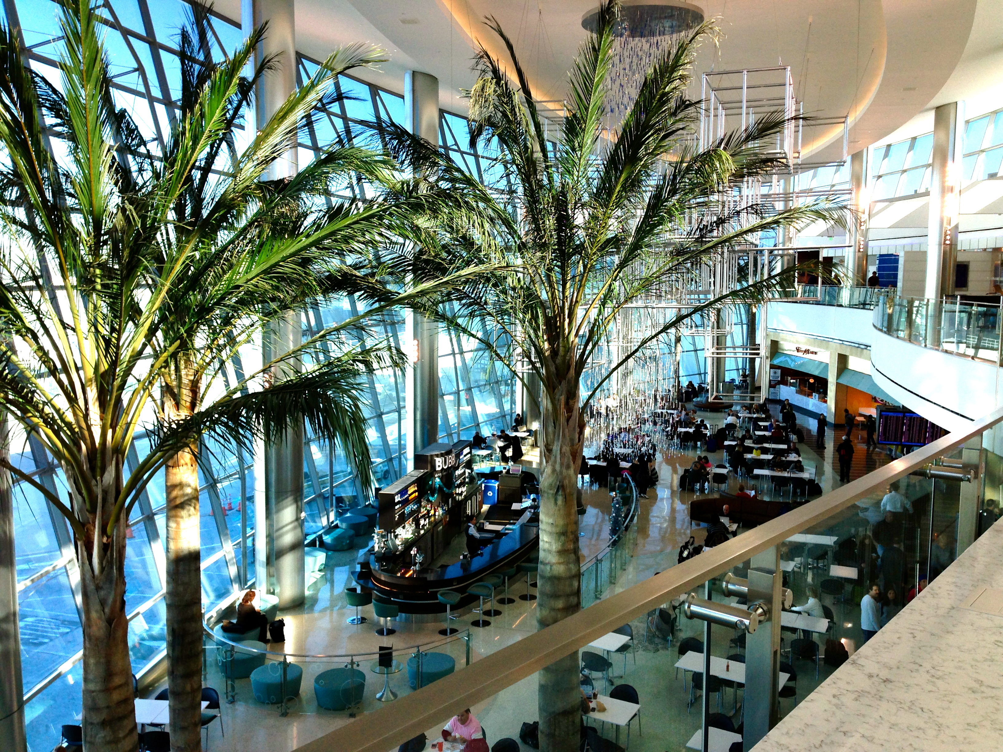 United Club San Diego Airport Lounge View from Outdoor Terrace