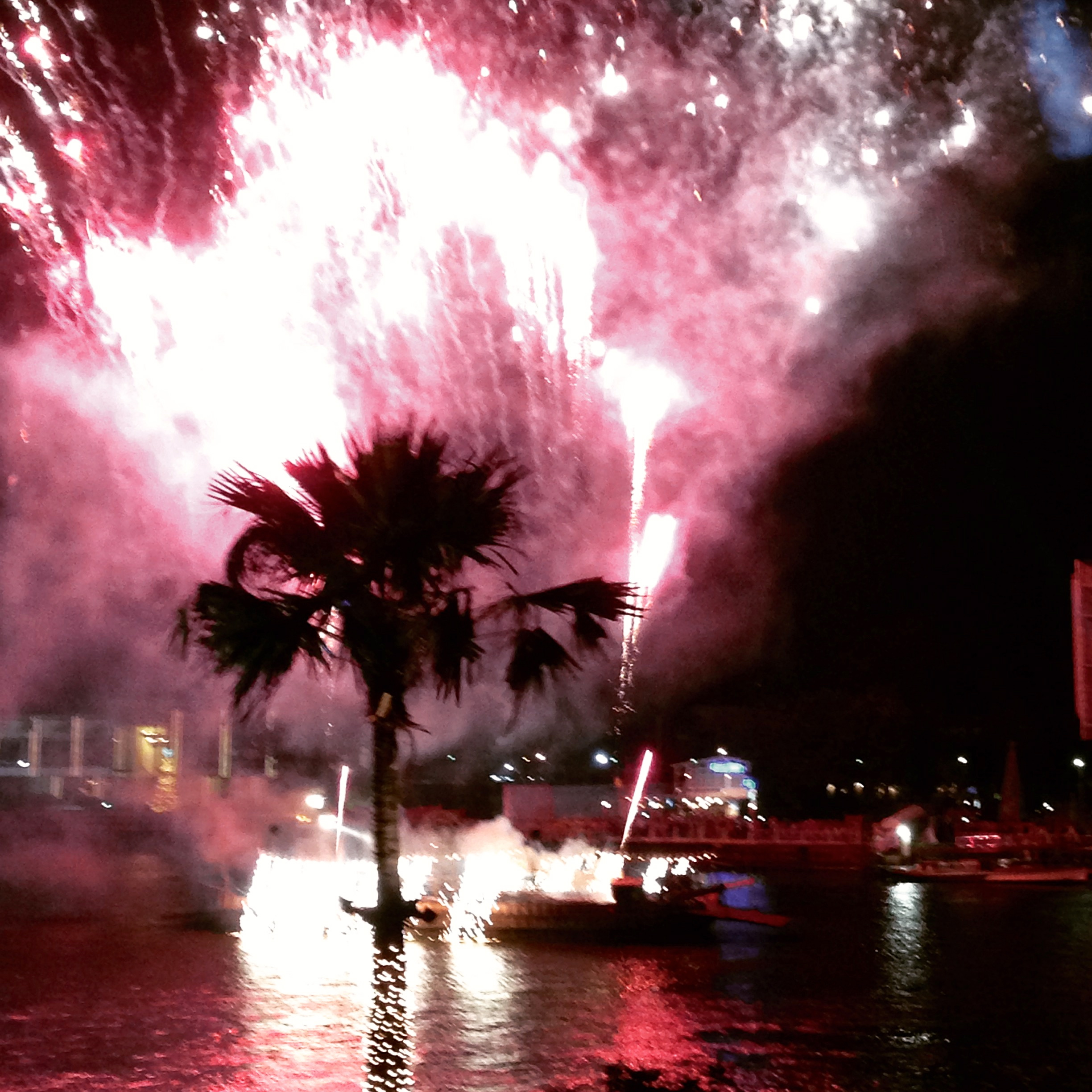 Royal Orchid Sheraton Bangkok New Year's Eve Fireworks Celebration Display on the Chao Phraya River