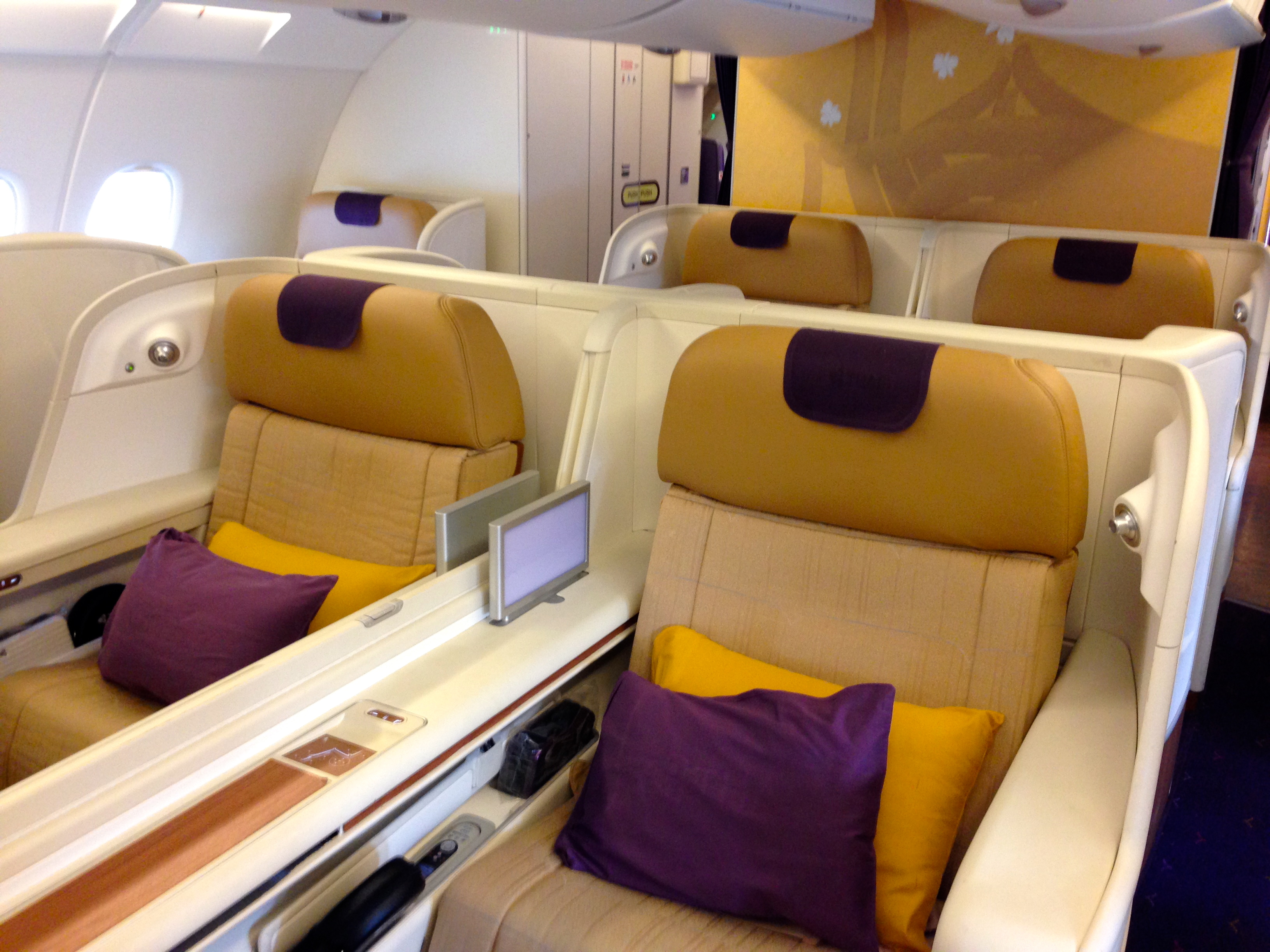 Thai Airways A380 First Class Seat Suite Frankfurt FRA to Bangkok BKK