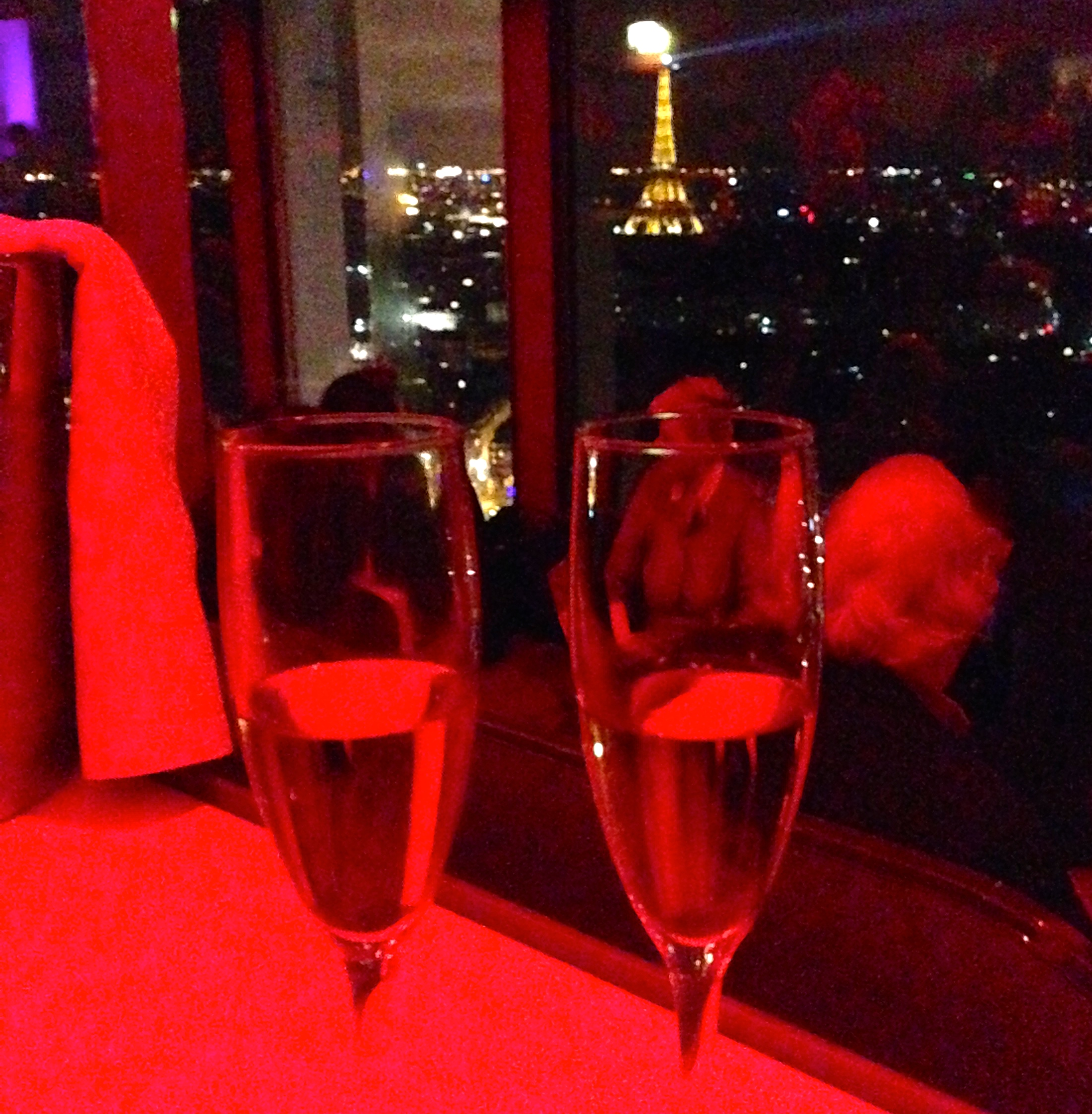Celebrating Ringing in the New Year's Eve Bar La Vue Hyatt Regency Paris Etoile