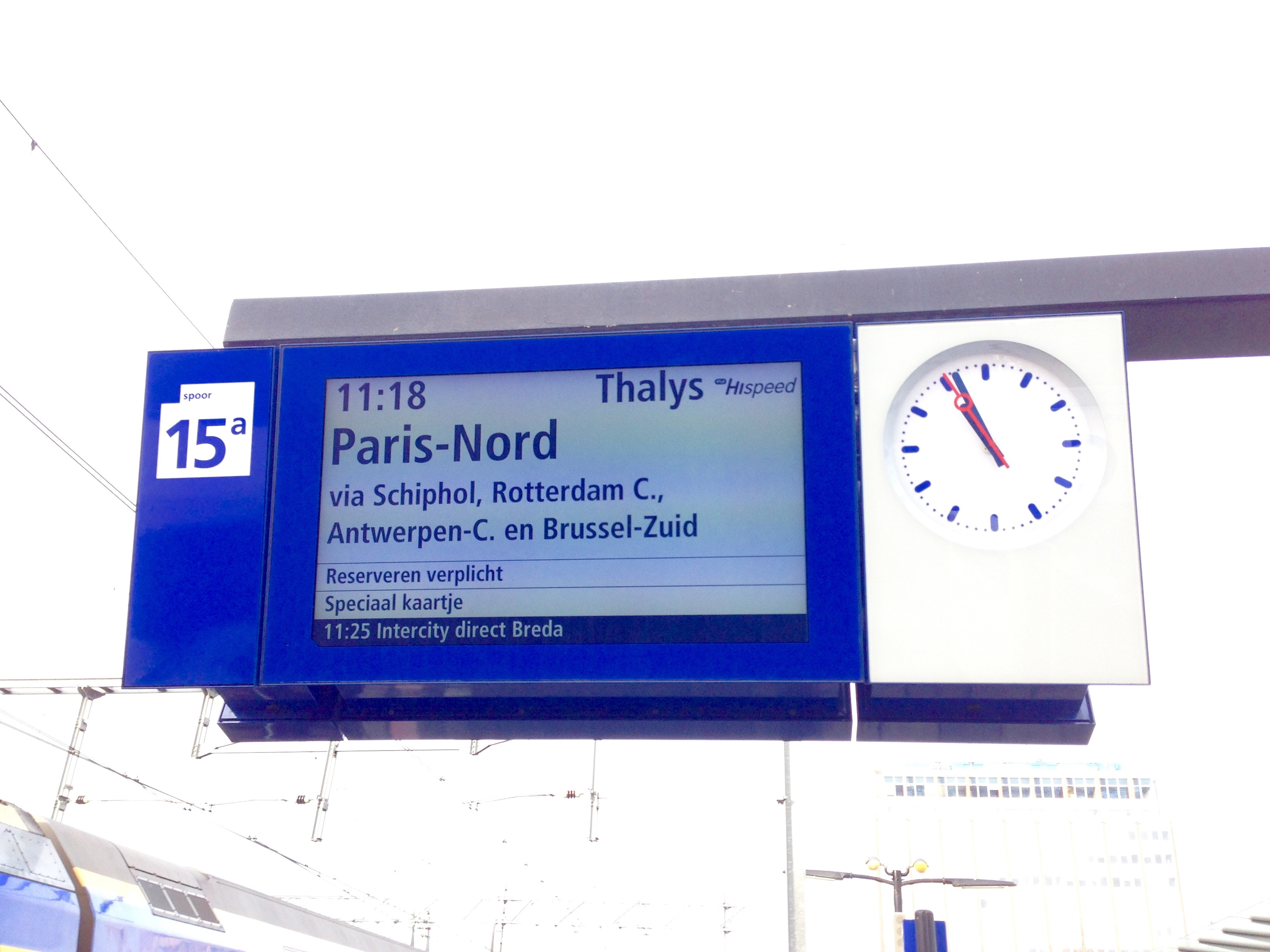 Thalys Amsterdam Centraal Station Departure Board