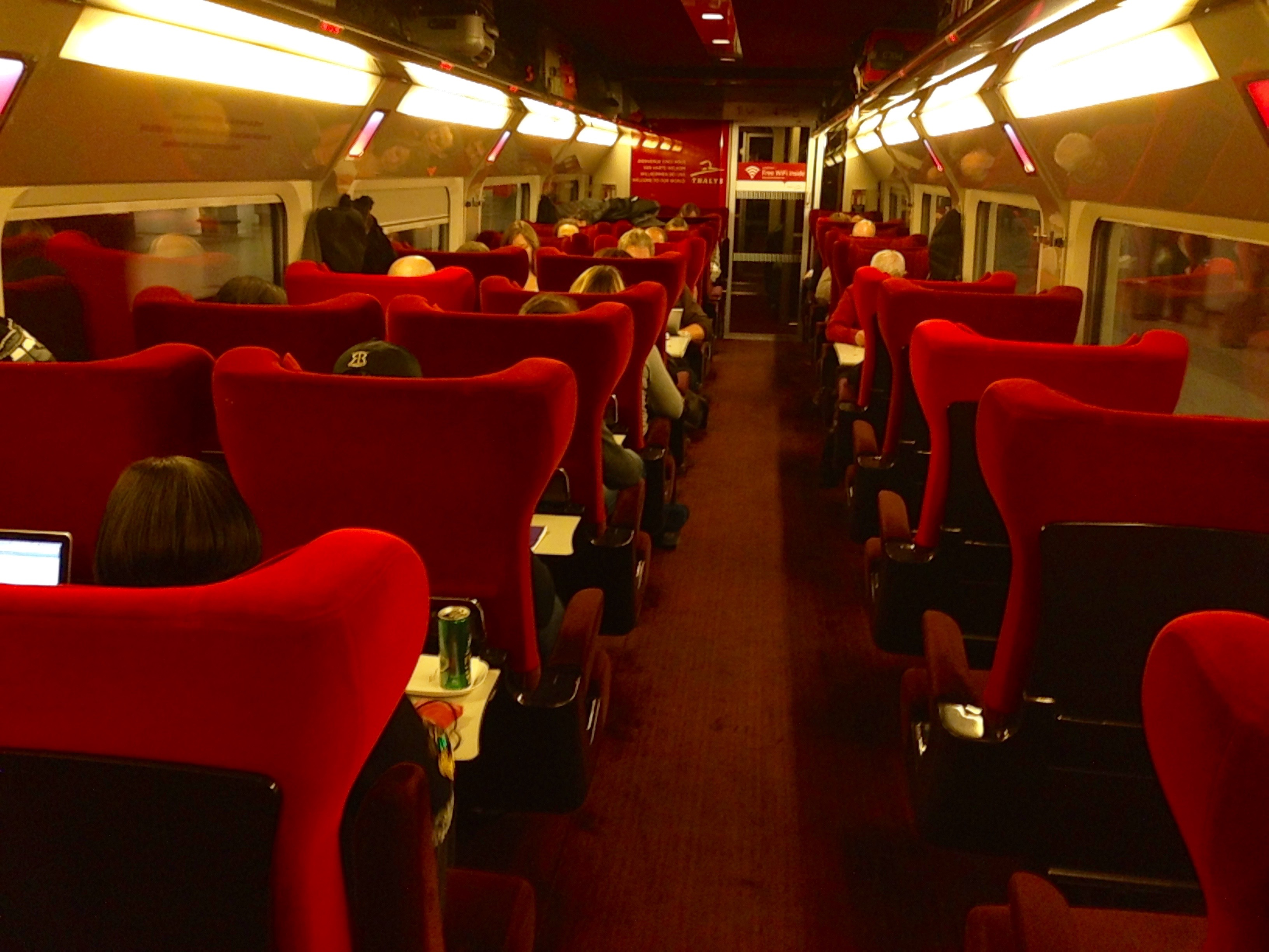 Thalys Comfort 1 Car Interior Amsterdam to Paris