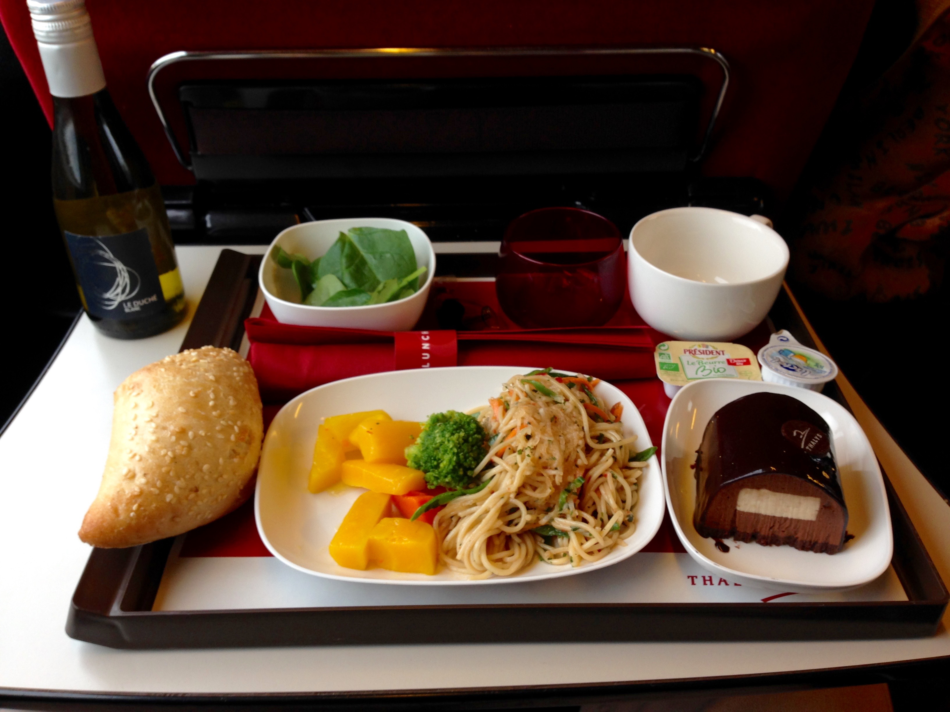 Thalys Comfort 1 First Class Lunch Meal