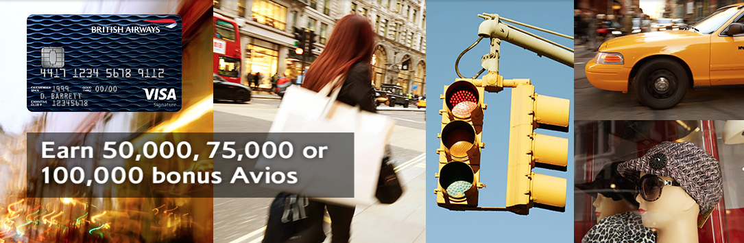 British Airways Visa Credit Card 100K Bonus Avios Points Offer